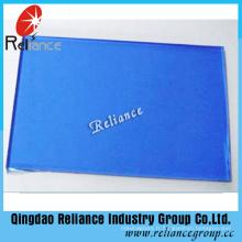 Verre teinté bleu foncé de 4mm avec ISO