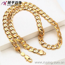 Collar al por mayor de China Xuping del precio especial 18k de los hombres plateados oro