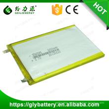 Alta capacidad inteligente 2600mah 356595 3.7 v Li-ion batería de polímero de la batería de polímero de la batería