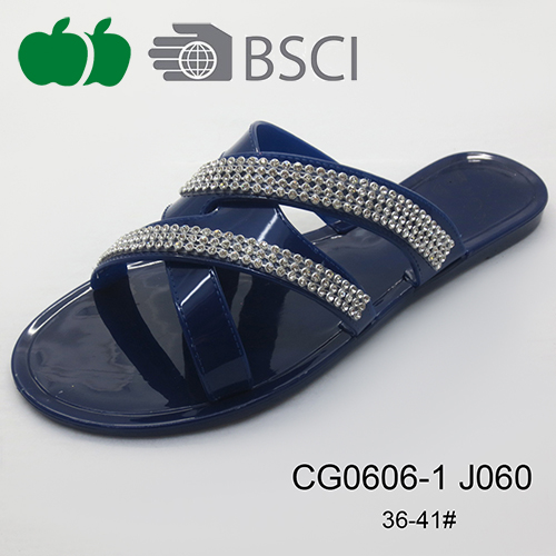 fashion ladies pvc slippers
