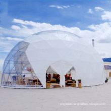 6M Glamping Dome Tent Waterproof PVC Fabric Dome Tent Luxury Geodesic Dome Tent Hotel