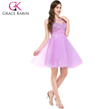 Grace Karin Five Colors Fashion Sleeveless Backless Short Cocktail Dress CL6151-5#
