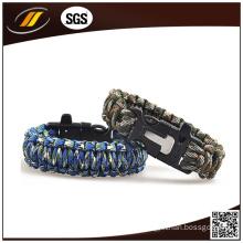 Fire Starter Whistle Paracord Bracelet (HJ7016)