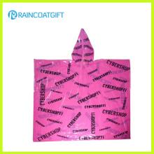 Impression jetable à prix abordable PE Rain Poncho