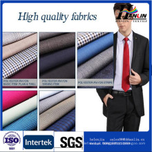 Poliéster rayon mistura tecido tr suiting 65/35 tecido liso da China