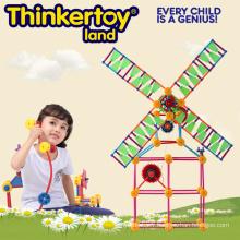 Jouet éducatif en plastique pour enfants Bâtiments plastiques