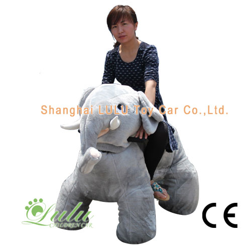 gray elephant toy car