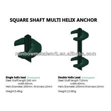 Muelles o anclas helicoidales cuadrados galvanizados del eje cuadrado