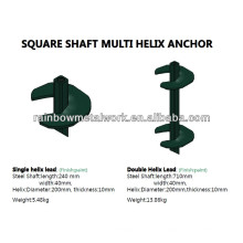 Hot Galvanized Square Shaft Helical Piers or Anchor