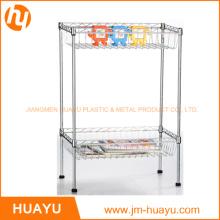 Metal Wire Display Shelf Without Wheels Supermarket Shelf Household Shelf