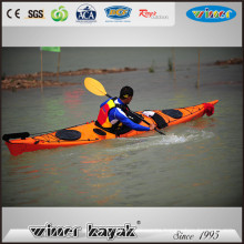 2016 New Style Sea Kayak Fast Speed Sit in Single Kayak with Rudder