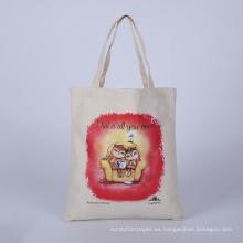 bolso promocional al por mayor del bolso de compras del bolso del teto del algodón