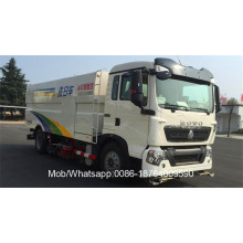 Caminhão de estrada HOWO com vassoura e lavadora