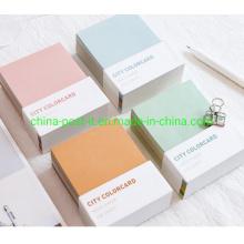 Color Card Paper Memo Notes Pad