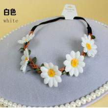 Cinta blanca de la cinta de la corona del girasol (HEAD-355)