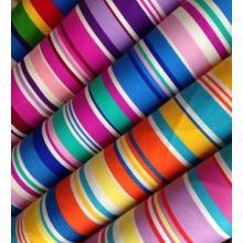 Le plus nouveau Design Stripe 100% coton imprimé tissu de toile