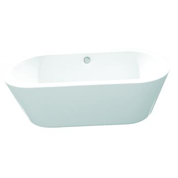 Bathroom White Indoor Acrylic Bathtub Freestanding
