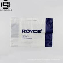 Cheap white reusable loop handle bag for shopping