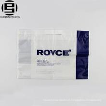 Saco de alça de laço reutilizável branco barato para fazer compras