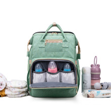 Wholesale large capacity multi-functional waterproof stylish mummy backpack travel baby bed bags baby diaper bag for mommy