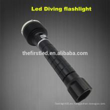 3T6 Lámpara del CREE XM-L2 LED Autodefensa que se zambulle la luz Equipo de buceo