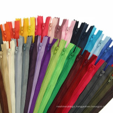 Fashion customized closed end open end #5 nylon zippers