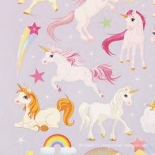 Cute Unicorn Cartoon Die Cut Uv Vinyl Sticker,Kiss Cut Sticker