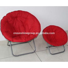 Folding moon chair for adult and kids, folding round chair