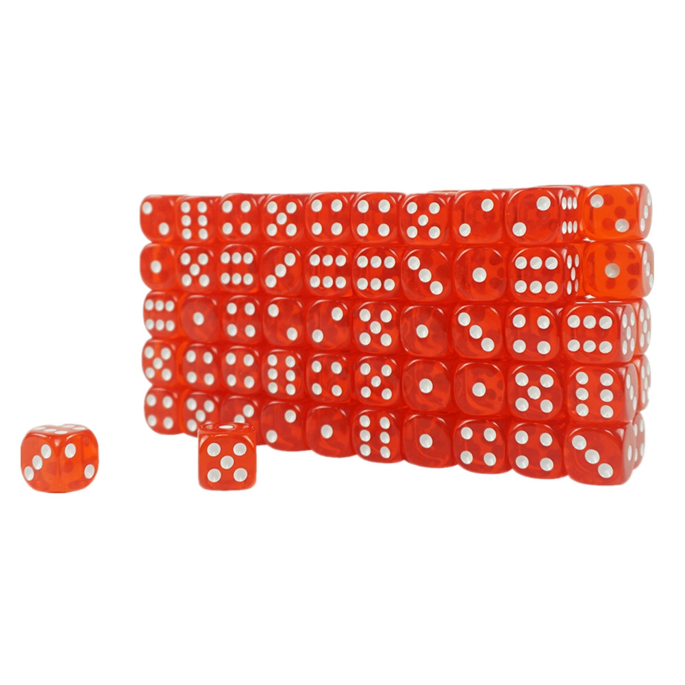 High Quality Acrylic Transparent Casino Dice Red