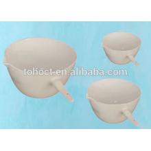 Excelente, mejor venta plato evaporador de porcelana con mango y caño