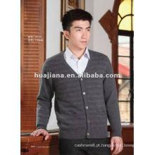 Casacos de manga comprida de cashmere para homens de luxo
