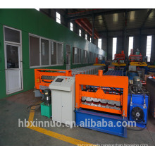 Hebei xn 914 metal color steel tile cold making trapezoid roof sheet roll forming machine
