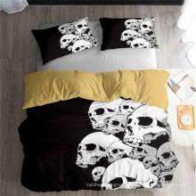 3D Printed Bedding Set, Suitable for Duvet Cover Set, Skeleton