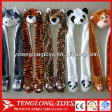 Niños calientes de la venta y sombrero animal encantador y caliente adulto del animal de la felpa del juguete