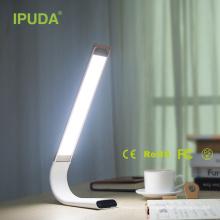 restaurant mené moderne de lampe rechargeable avec le panneau tactile flexible de cou