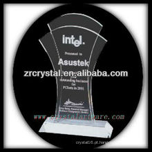 design atraente em branco troféu de cristal X067
