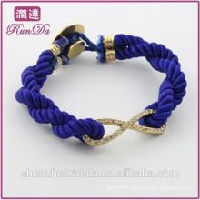 Alibaba new arrival fashion diamond 8 rope bracelet