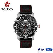 Montre-bracelet usine personnalisée en cuir montres hommes