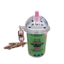 Cute Cat Milk Tea Keychain