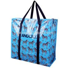 2016 ANDCICI Китая оптом Рециркулированные Прокатанные сплетенные PP кладут в мешки, хозяйственная сумка застежки-молнии