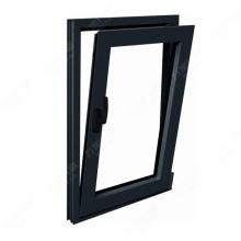 Precio barato, doble acristalamiento, buena calidad, inclinación de aluminio y giro lateral, ventana colgada, precio de fábrica Foshan wanjia