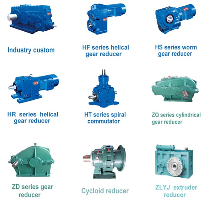Electric crane speed reducer pipe gear motor