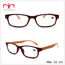 Ladies Plastic Reading Glasses with Wooden-Like Temple (WRP503131)
