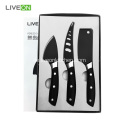 3PCS Black Cheese Messerset