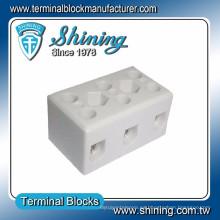 TC-503-A Thermocouple 600V 50A 3 Pin Conector de cable de porcelana