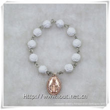 8mm Resin Rose Beads Finger Rosary with Cross, Finger Rosary (IO-ce086)