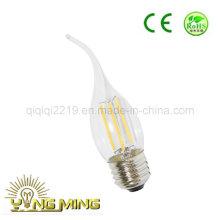 Bulbo claro do filamento do diodo emissor de luz da luz da loja do dim E27 de 3.5W Ca35