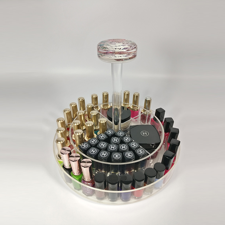 Clear Acrylic Nail Polish And Makeup Organizer