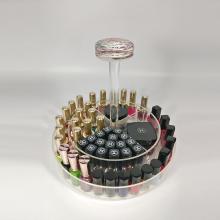 Organizador de maquillaje y esmalte de uñas de acrílico transparente
