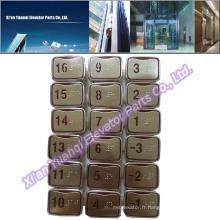 Nouveaux montres LG Pièces détachées ascenseur Braille Bouton poussoir en acier inoxydable